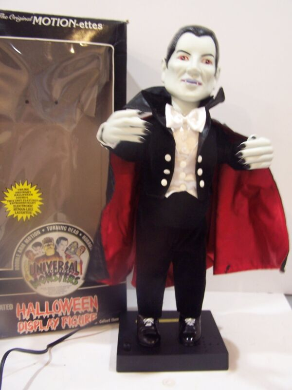 "TELCO UNIVERSAL STUDIOS MONSTERS DRACULA 22"" HALLOWEEN MOTIONETTE VAMPIRE sounds"