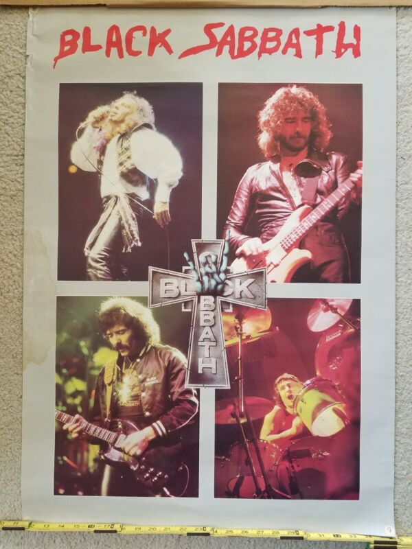 Vintage 1982 Black Sabbath Mob Rules rare Poster huge 35x24 FREE SHIPPING Dio