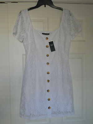 NWT Abercrombie & Fitch White Lace Button Down Dress Size L
