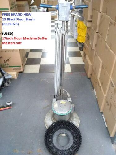 """Free 15"""" Floor Brush (NEW)+USED 17"""" Industrial Floor Machine Buffer As IS PICKUP"""