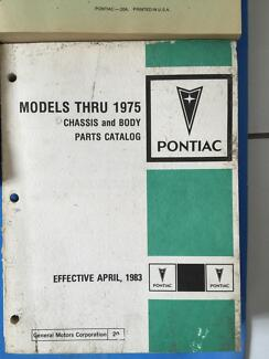 1975 Pontiac parts and body parts catalogue
