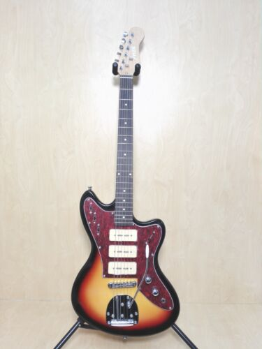 Haze HSJA 1950 Electric Guitar,Solid Basswood Body,SSS Pickups,Sunburst+Free Bag