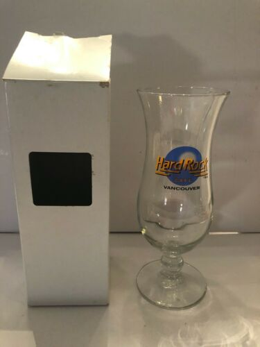 HARD ROCK CAFE HURRICANE GLASS - VANCOUVER - PRE-UNIFICATION LOGO