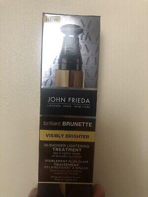 John Frieda Brilliant Brunette In-Shower Hair Lightening Treatment 34ml NEW