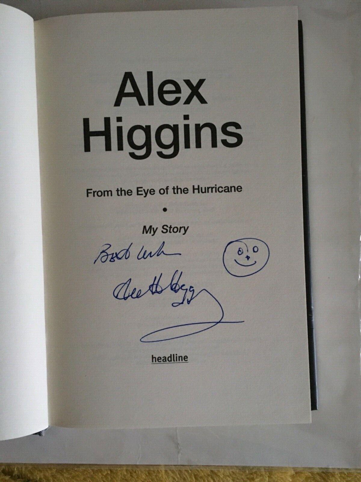 Snooker  legend Alex Higgins My Story Hardback, 2007 - 2nd Edition Signed