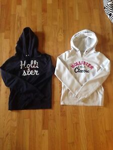 Two Hollister hoodies (Navy blue + White) Girls 9-12 Years old