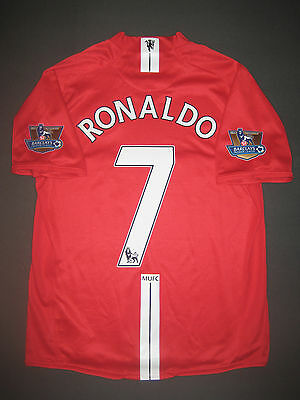 2007 2009 Nike Manchester United Cristiano Ronaldo Jersey Shirt Kit Real Madrid