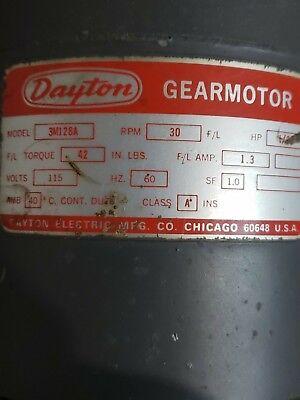 Dayton Model 3m128a 30 Rpm Gearmotor