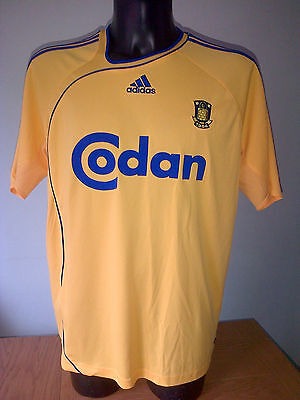Brondby Danish Football Team Home Shirt Top Jersey Rare Mens XL