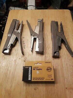 Metal Stanley Bostitch B8 Heavy Duty Plier Stapler Set Of 3 With Staples