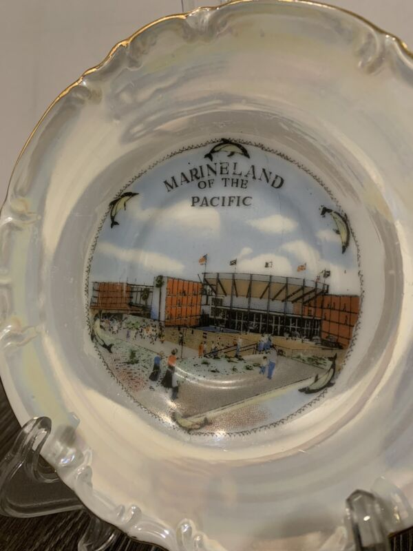 """Vintage California Souvenier Plate 6"""" Marineland Of The Pacific Good Condition"""
