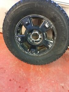 255/70/17 snow tires on Ford F150 rims