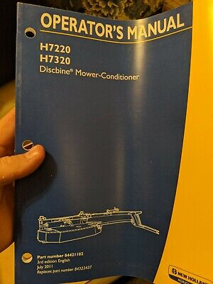 New Holland Discbine Mower-conditioner Operators Manual H7220 H7320 H7230 H7330
