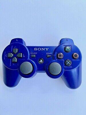 SONY PLAYSTATION 3 GENUINE OEM SIXAXIS DUALSHOCK 3 CONTROLLER  BLUE RARE.