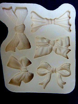 Silicone Mold Mould sugarcraft Fondant Cake Sugar Paste Clay Resin -Ribbon Set