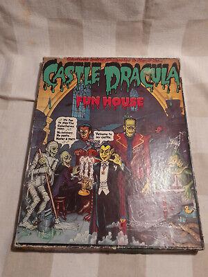 Vintage 1970s Castle Dracula Fun House Colorforms Play Set Monster Halloween