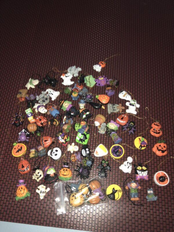Lemax Spooky Town Halloween Tree Mini Miniature Ornament Lot Monsters Pumpkins +