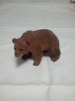 Schöner  Bär Holz Deko Grizzly Bear Braunbär Tier Figur Animal Handarbeit