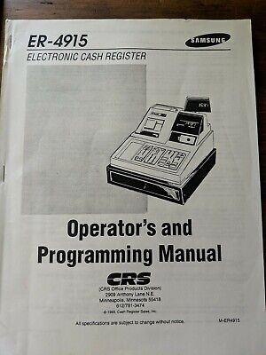 Samsung Er- 4915 Electronic Cash Register Operators Programming Manual
