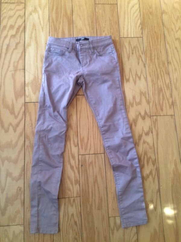Else Jeans 25 Pink Tan Small S Stretch Straight Leg