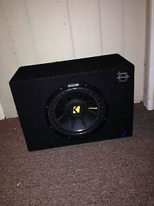 Kicker comp sub with amp