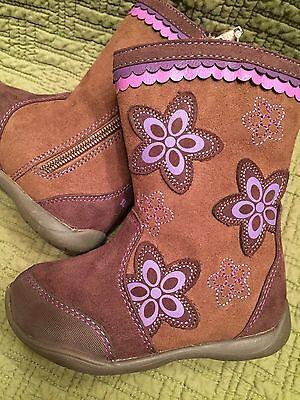 STRIDE RITE Surprize Girls Fashion Boots Krisha Purple Brown 5 6 7 8 9 10 11 12