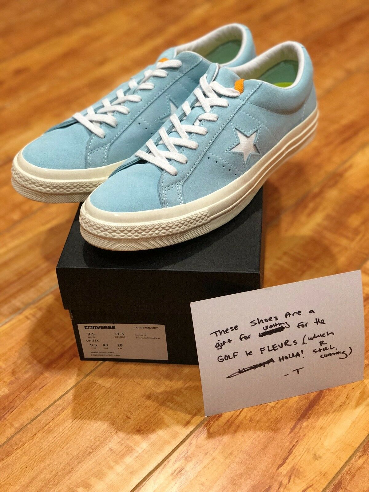 GOLF Wang x Converse One Star Clear Water/White Size 9.5 Men