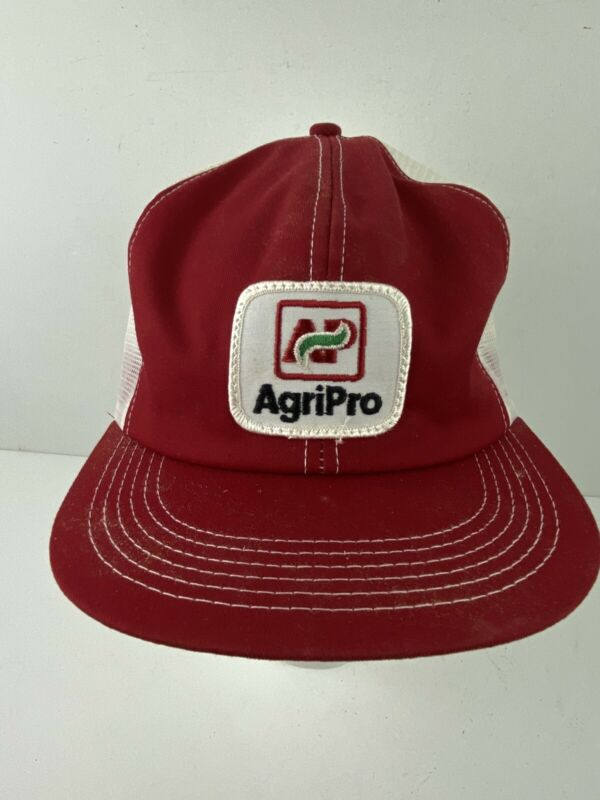 Vintage AgriPro Patch Seeds Farmer Trucker Mesh Snap Back Hat K Products Cap