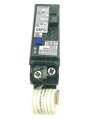 Siemens Qa120afc 20 Amp Single Pole Qaf2 120240v Afci Arc Fault Plug In Breaker