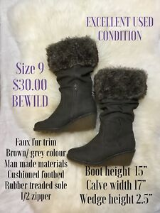 Size 9 Bewild wedge boots