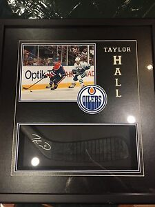 Taylor Hall signed stick blade
