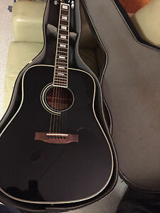 Acoustic guitar with case