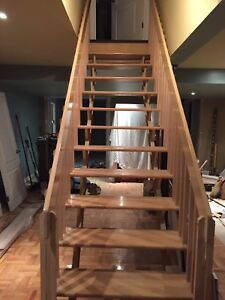 Wood steps and handrails
