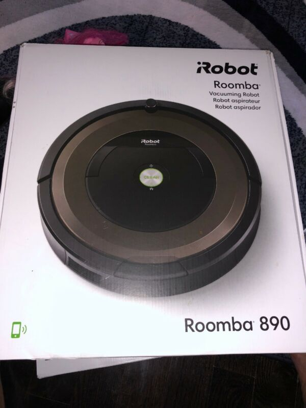 iRobot Roomba 890 App-Controlled Self-Charging Robot Vacuum Black/brown R890020