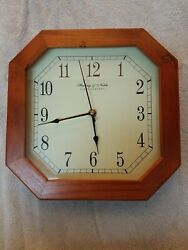 Sterling & Noble Clock Company Octagon Shaped Wooden Framed Clocked