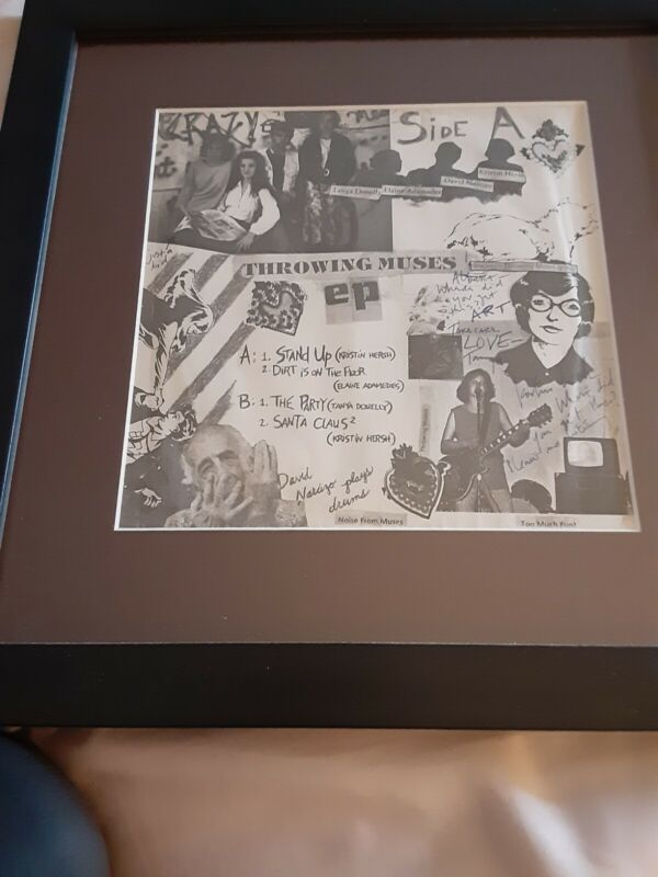 Throwing Muses Record Autographed And Framed SUPER RARE
