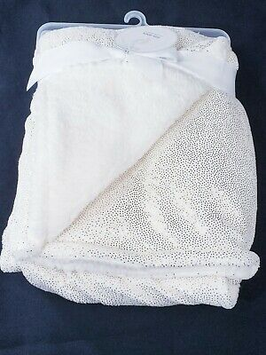 PERSONALIZED Sparkle of Gold MINKY & SHERPA BLANKET **Christening or (Personalized Baptism Blanket)
