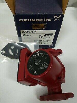 Grundfos 59896769 Boiler Pump Ups15-58 Fc 115v With Gaskets New