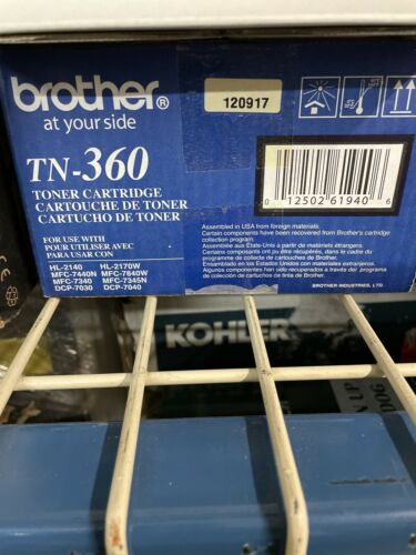 GENUINE Brother TN-360 High Yield Toner Cartridge - Black NEW Open Box . - $30.00