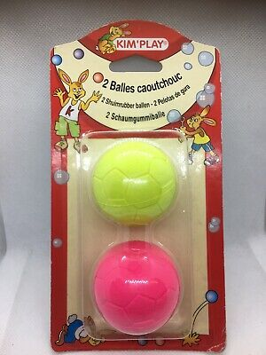 Puppy Small Medium Dog Toys Balls (2 Pack) Rubber Durable Play Chew Throw Fetch