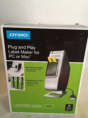 New Dymo Plug And Play Label Maker For Pc Or Mac Labelmanager Manager D1 Easy