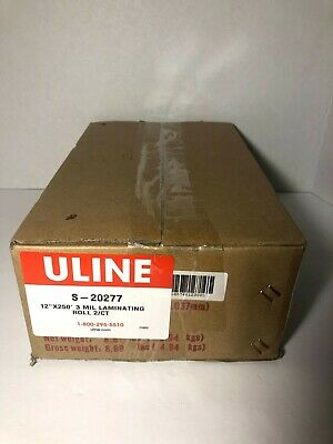 U-line S-20277 3 Mil Laminating Film 12x250 2 Roll Case 1 Inch Core New