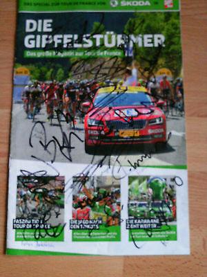 Tour de France 2015 Heft mit 19 Original Autogrammen Mollema Clement Ten Dam ua.