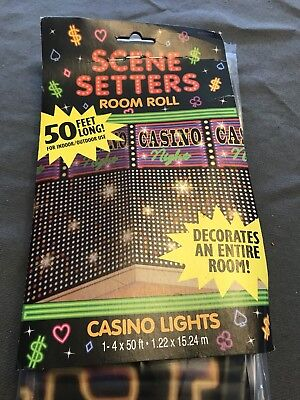 Scene Setters Casino Room 4 X 50 Feet Wall Party Decoration