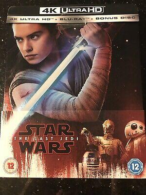 Star Wars The Last Jedi UK Limited Edition 4K UHD Blu-ray Steelbook