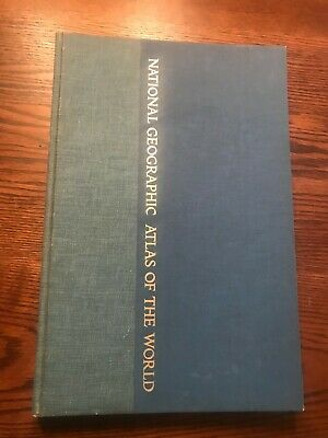 Vintage NATIONAL GEOGRAPHIC ATLAS OF THE WORLD BOOK of MAPS