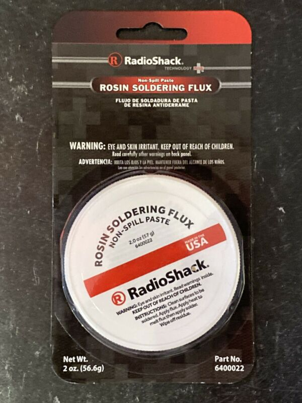 RadioShack USA MADE (Catalog 6400022) Rosin Soldering Flux Non-Spill Paste 2oz