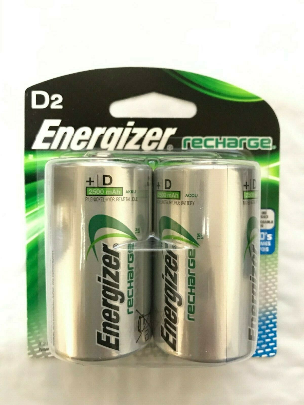 ENERGIZER NH50BP-2 Rechargeable NiMH Batteries D 2-pk NH50BP