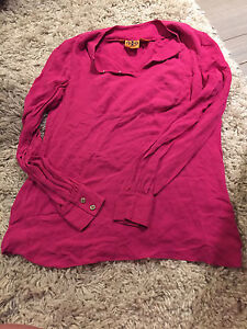 Size 2 Tory burch pink dress shirt - great condition