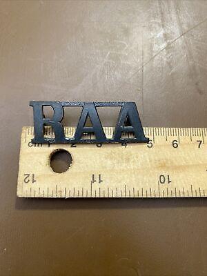 WWII era RAA Royal Australian Artillery shoulder badge